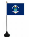 U.S. Airforce Desk / Table Flag with plastic stand and base.